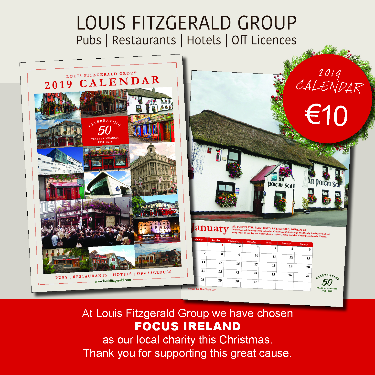 2019 Louis Fitzgerald Group Calendars
